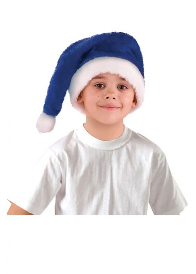 Колпак, шапка Деда Мороза - синий (дет.)