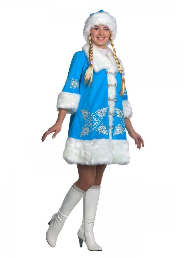Костюм Снегурочки «Вышивка»