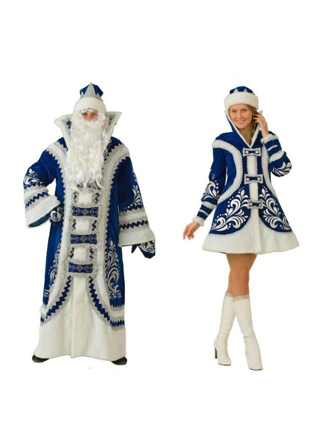 Комплект Дед Мороз и Снегурочка «Королевский»