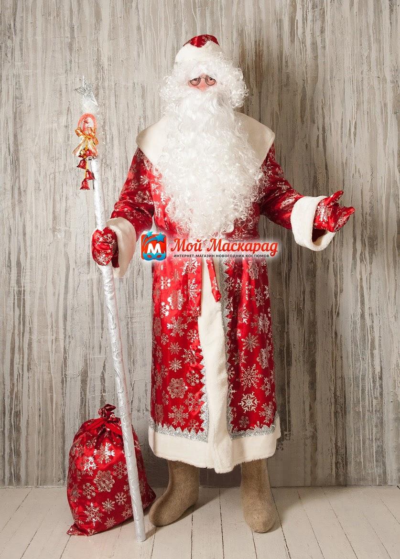 Костюм Деда Мороза «Атласный-Красный»