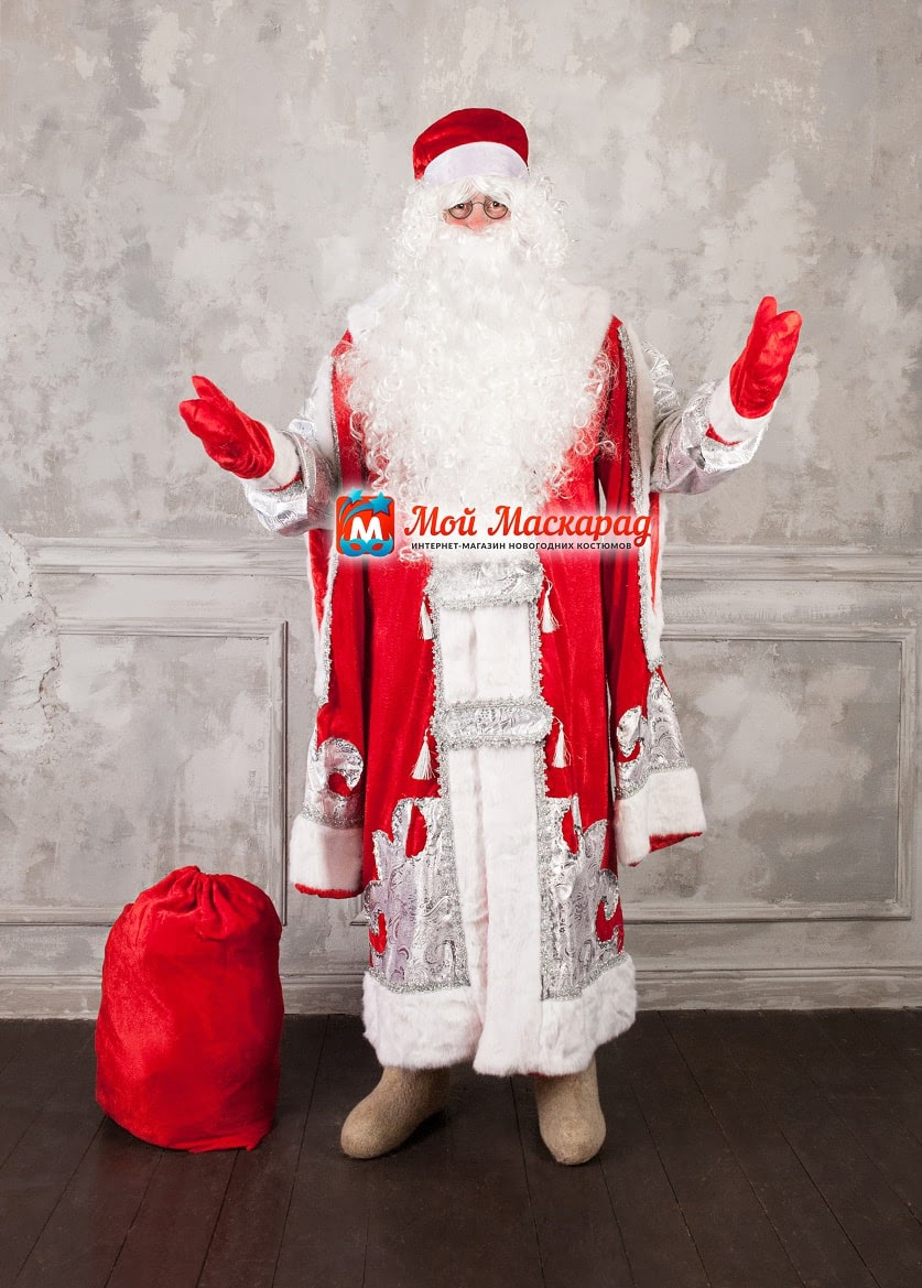 Костюм Деда Мороза «Царский-Красный»