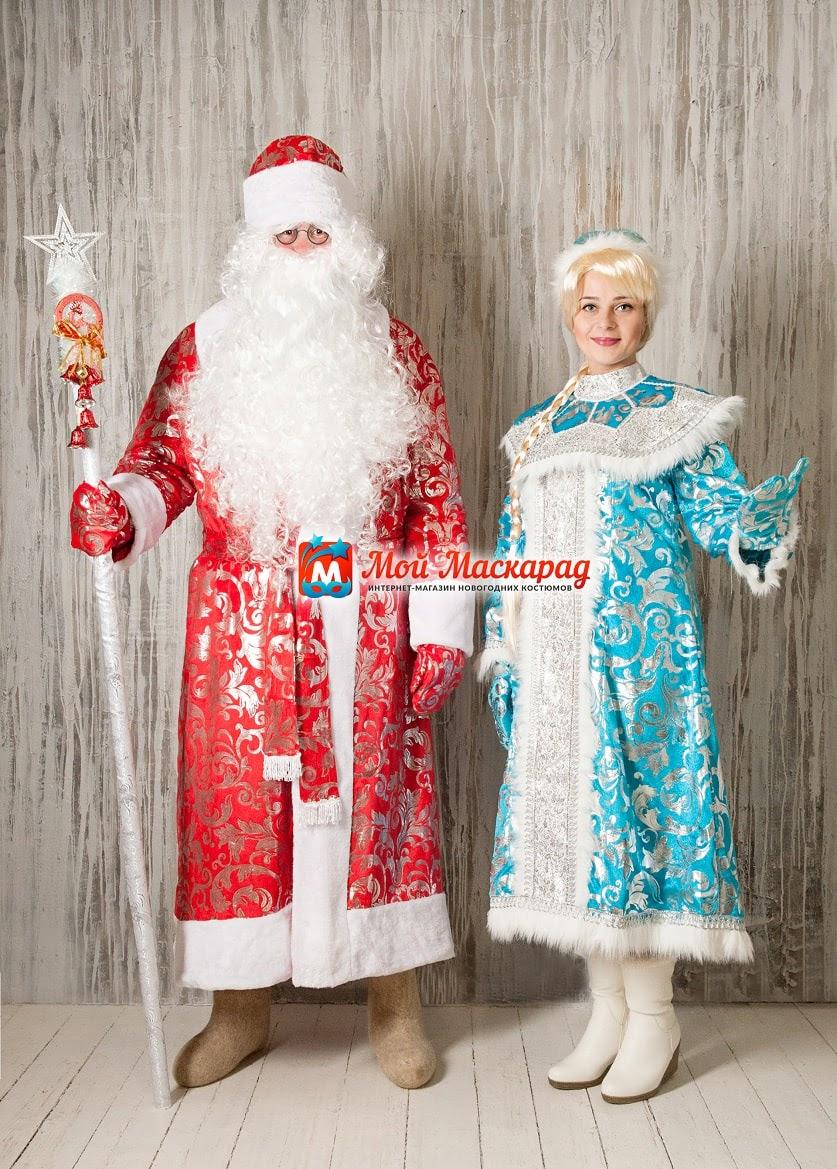 Комплект Дед Мороз и Снегурочка «Морозный Узор»